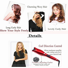 Salon Automatic Curling Iron Air Hair Curler Spin & N Curl 1 Inch Ceramic Rotating Curlers Hair Styling Tools Magic Wand Curl