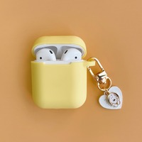 Hot Korean Cute Dog Key Ring For Apple Airpods 2 Accessories Bluetooth Headset Case Silicone Earphone Protective Cover Anti-lost