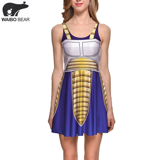Dragon Ball Anime Custome Fashion Sleeveless Women's Pleated Skirt