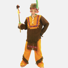 Precio más bajo envío de la nueva fiesta de disfraces de Halloween disfraces vestido de traje pequeño niño vestido Indio clothing5040(China (Mainland))