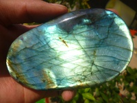 231g(0.5 lb) Natural Labradorite Crystal Rock Polished Madagascar BRC141