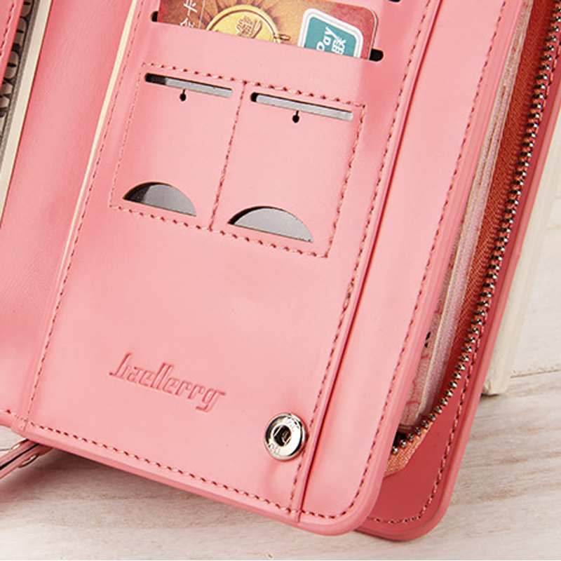 Baellerry Women Wallets Long PU Leather Clutch Ladies Purses 2017 Fashion Phone Pocket Hasp Dollar Price Wallet Women Big Purse