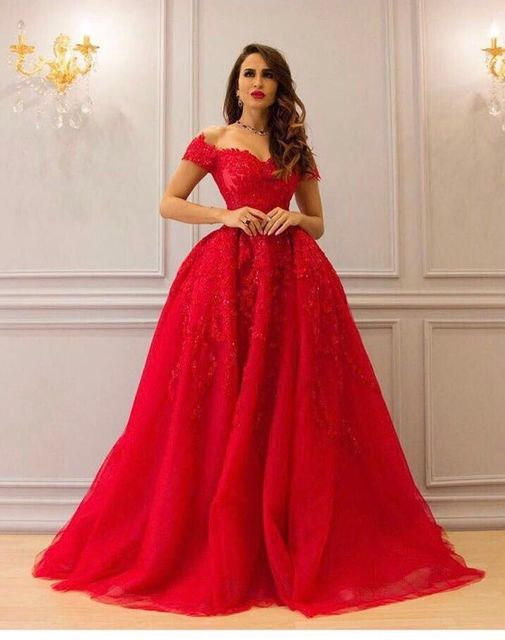 sports shoes 031d0 4c4a7 US $188.8 |2017 New coming hot abiti da cerimonia da sera evening gown v  neck short sleeves with removable train red evening dresses XD 516-in  Evening ...