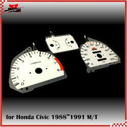 DASH EL Glow Gauge Green Light for Honda 4th Generation Civic 1988 1991 Manual Transmission KPH