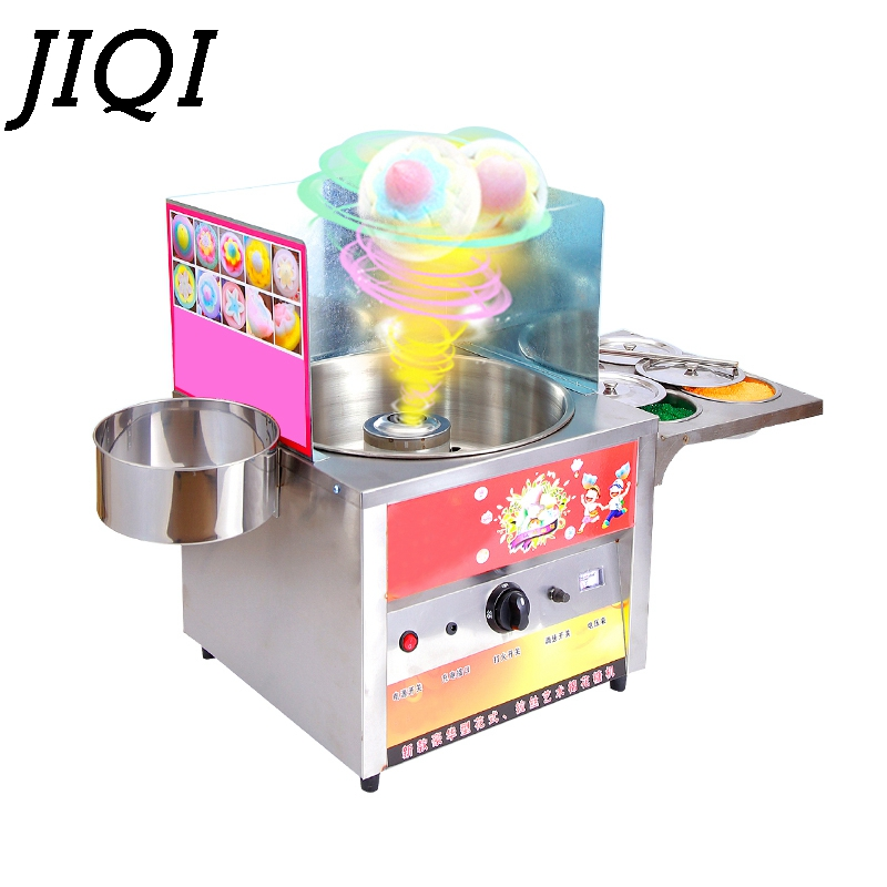 JIQI Commercial fancy gas cotton candy maker DIY sweet Candy sugar floss machine stainless steel snack