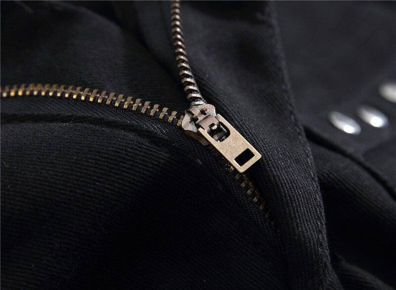 DJ Night Club Black Zipper Men's Jeans 4