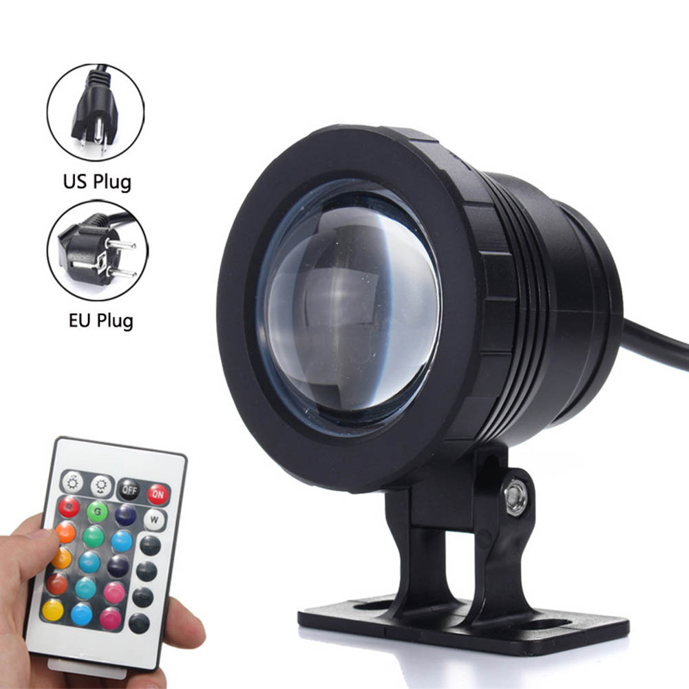 Generous 10w Rgb Led Underwater Spot Light Ip68 Waterproof Pond Aquarium Lamp With Controller Mdj998 Led Underwater Lights