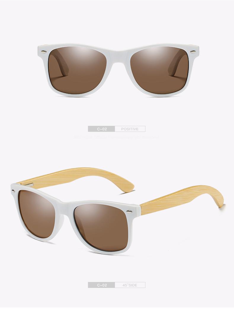 Polarized Unisex Bamboo Sunglass