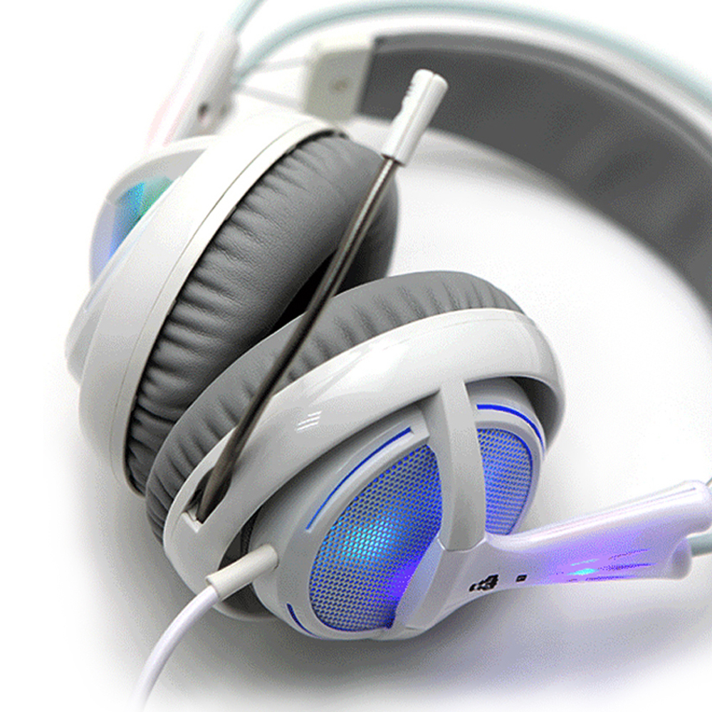 7.1 Auriculares con sonido Rainbow Neon Lighting Gaming Headphones - Audio y video portátil - foto 6