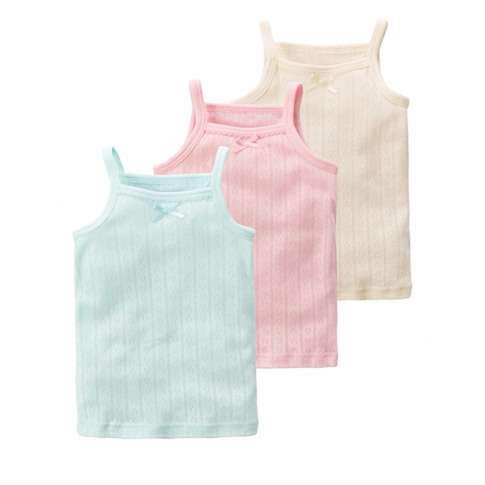 Nightaste Toddler Girls Soft Cotton Camisoles Undershirt Little Kids Pack of 4pcs Tank Tops with Cute Prints Fits 2-9 Years