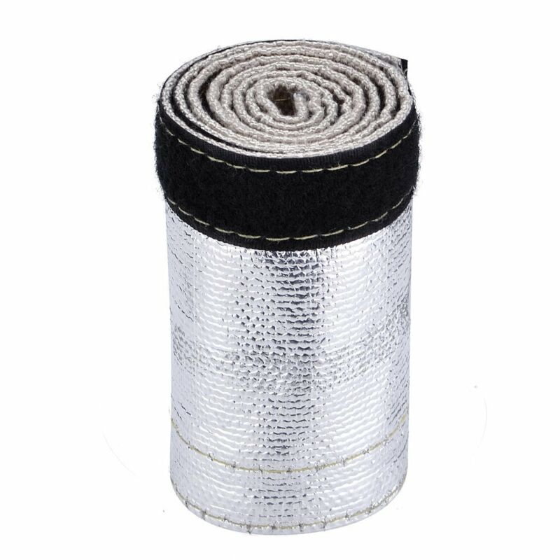 Removal Hose Cover Wrap Black+Silver 1Pc Heat Shield Tubing Replacement