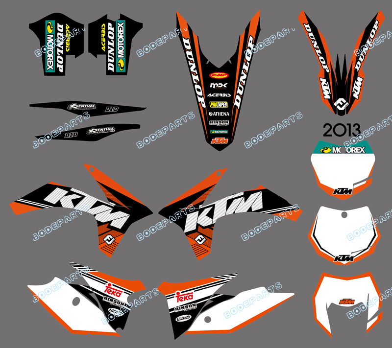 DST0602 NEW STYLE TEAM GRAPHICS WITH MATCHING BACKGROUNDS FOR KTM 125/200/250/300/350/450/500 EXC 2012-2013 XC 2011  0322 star new team graphics with matching backgrounds fit for ktm sx sxf 125 150 200 250 350 450 500 2011 2012
