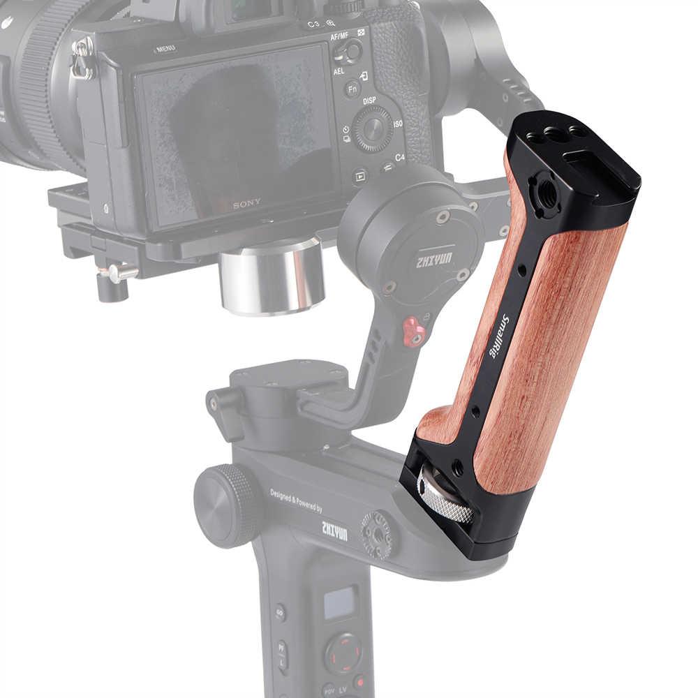Empuñadura de madera SmallRig para Zhiyun weepill LAB y cámara DSLR mango de madera de liberación rápida con zapata fría Arri orificio de Localización-2276