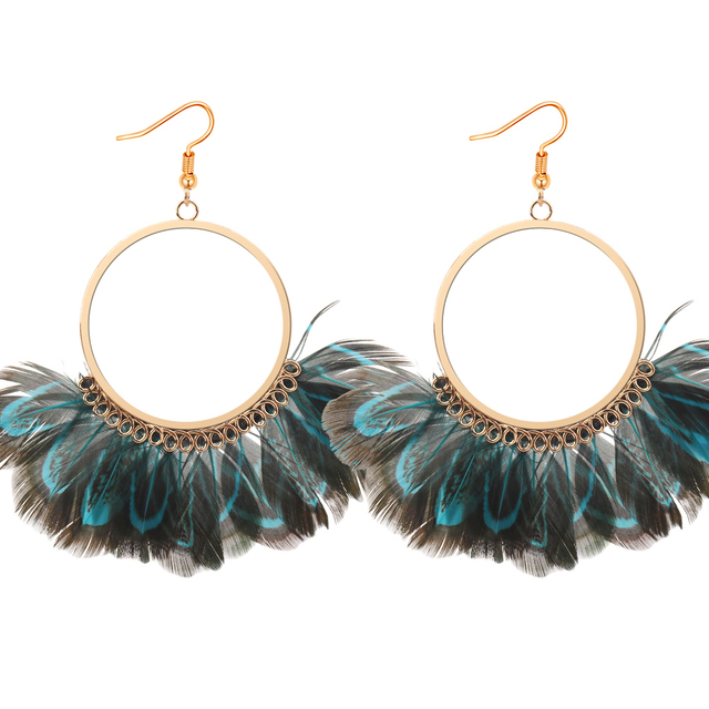 Women Peacock Feather Circle Earrings Long Dangling Hanging Accessories Fashion Earrings Wholesale Cheap Jewelry Sales 4  sc 1 st  AliExpress.com & Women Peacock Feather Circle Earrings Long Dangling Hanging ...