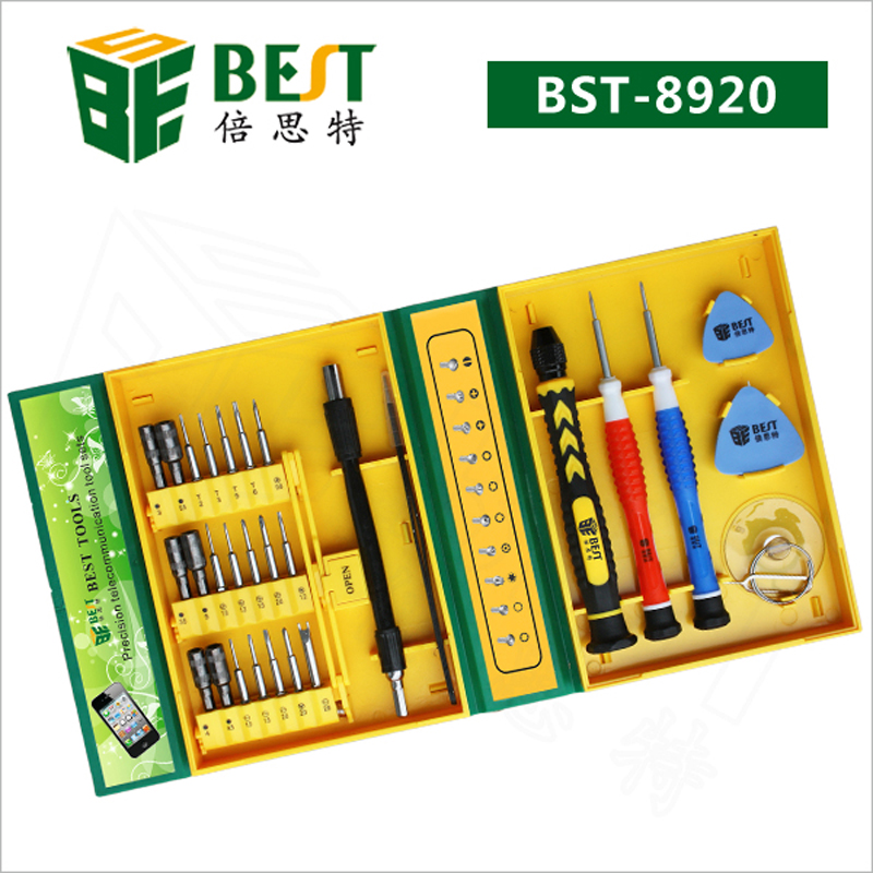 BEST BST-8920 High Quality Screwdriver Set Mobile phone Repair Tool Kit for iphone ipad laptop& Universal Electronic Repair Tool