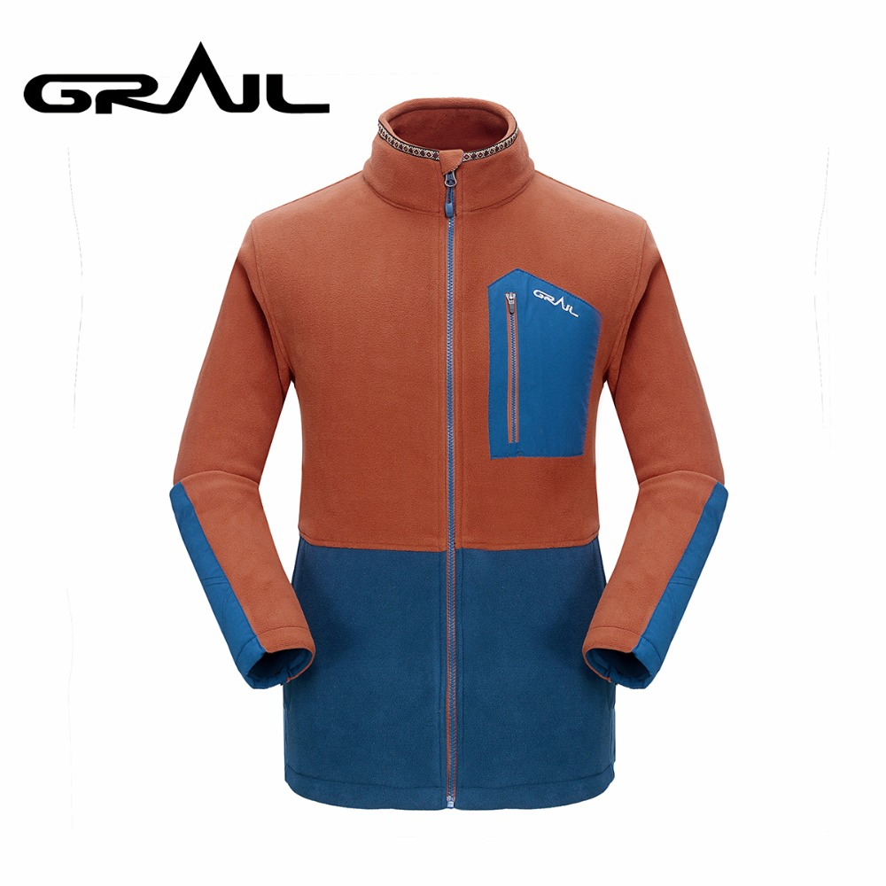 GRAIL Outdoor Polar Fleece Men Warm Thermal Trekking Jacket Coat Windbreaker Softshell Standing Collar for Camping Hiking M5007A newly hot sale winter military men fleece tactical softshell jacket polartec thermal polar hooded jacket and coat men clot