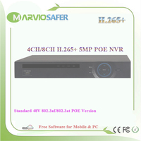 New H 265 H 264 4ch 8ch Channel 5MP POE NVR CCTV Video Network Recorder No