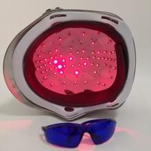 LLLT терапия для лечения выпадения волос 650nm 68 диодный лазерный шлем для роста волос с очками