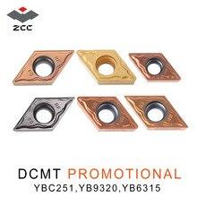 10 teile/los werbe hartmetall einsätze DCMT DCMT070204 DCMT0702 DCMT11T304 cnc drehmaschine werkzeuge für stahl edelstahl