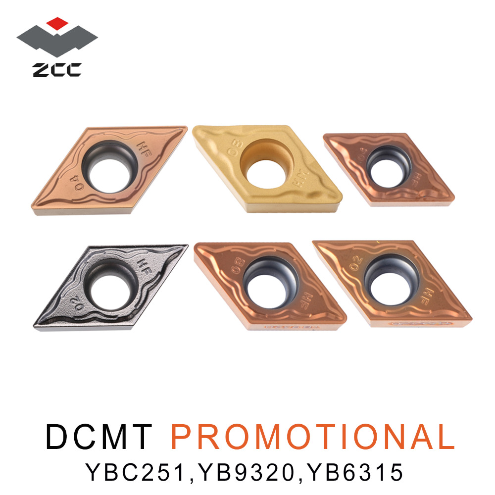 10pcs/lot Promotional Tungsten Carbide Inserts DCMT DCMT070204 DCMT0702 DCMT11T304 Cnc Lathe Tools For Steel Stainless Steel
