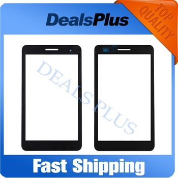Replacement New Digitizer Panel Front Glass Lens For Huawei Honor Play Mediapad T1-701 T1 701U T1-701U White Black 7-inch image