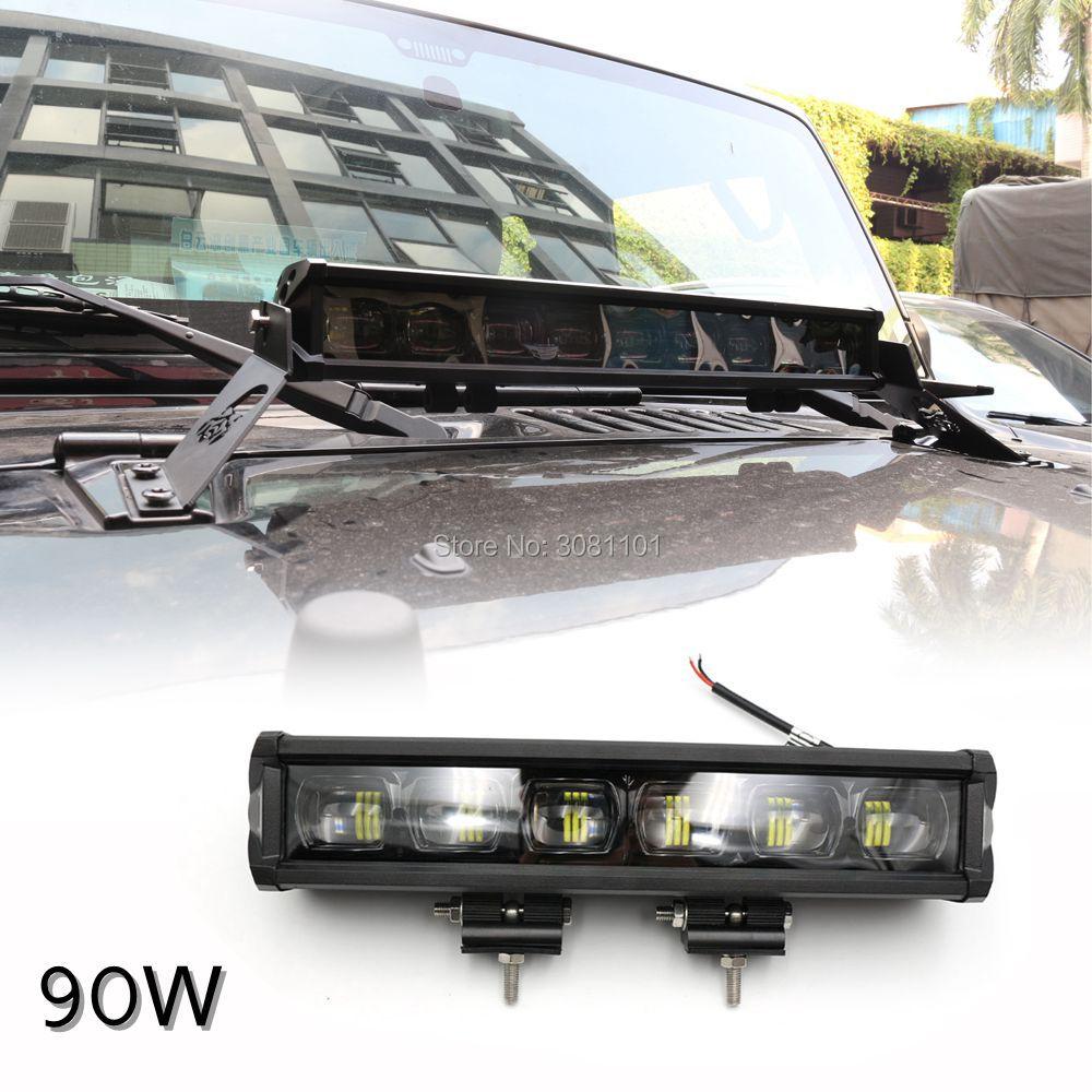 60W привело свет работы бар заливки формы алюминиевый сплав Универсальный автомобиль Водонепроницаемый однорядный прямой свет для Jeep / для Harley