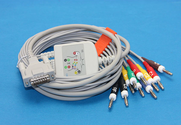 Schiller Bionet Welch Allyn Compatible Direct ECG EKG Cable 10 Leads IEC Banana 1