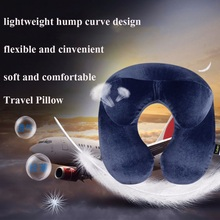 Inflatable Travel Neck Pillow for Airplane