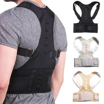 Male Female Adjustable Magnetic Posture Corrector Corset Back Men Brace Back Belt Lumbar Support Straight Corrector for Posture body wellness posture corrector