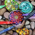 12/24 pçs diy acrílico tinta permanente marcador caneta lápis de água conjunto para cerâmica pedra vidro artigos de papelaria escritório arte suprimentos lapices