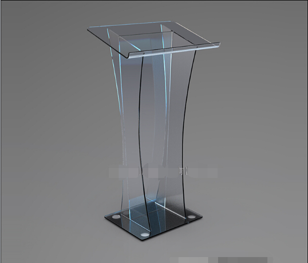 Acrylic Podium Lecture Desk Reception Table Crystal Clear Plexiglass Consultative Customer Desk Front Desk Reception
