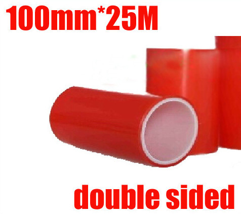 1Roll 100mm*25m Red Double Sided Adhesive Tape Sticker For Phone LCD Screen seamless double sided adhesive waterproof sticker 20pcs