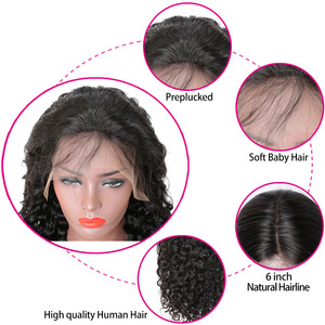 Image 4 - RXY Deep Wave Lace Frontal Wig Glueless Lace Frontal Human Hair Wigs Pre Plucked With Baby Hair T Part Wigs Brazilian Hair Remy