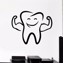 Dental Clinic Wall Sticker Smile Tooth Pattern Vinyl Stickers Strong Teeth Style Art Mural Poster AY1835