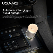 Wireless Car Kit Bluetooth 4.1 AUX Music Audio Receiver Adapter Hands-free 3.5mm Built-in Microphone USB Charger