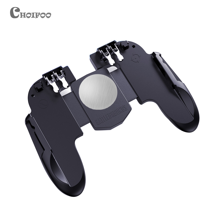 New Six Finger All-in-One PUBG Mobile Game Controller Free Fire Key Button Joystick Gamepad L1 R1 PUBG Trigger better than AK66