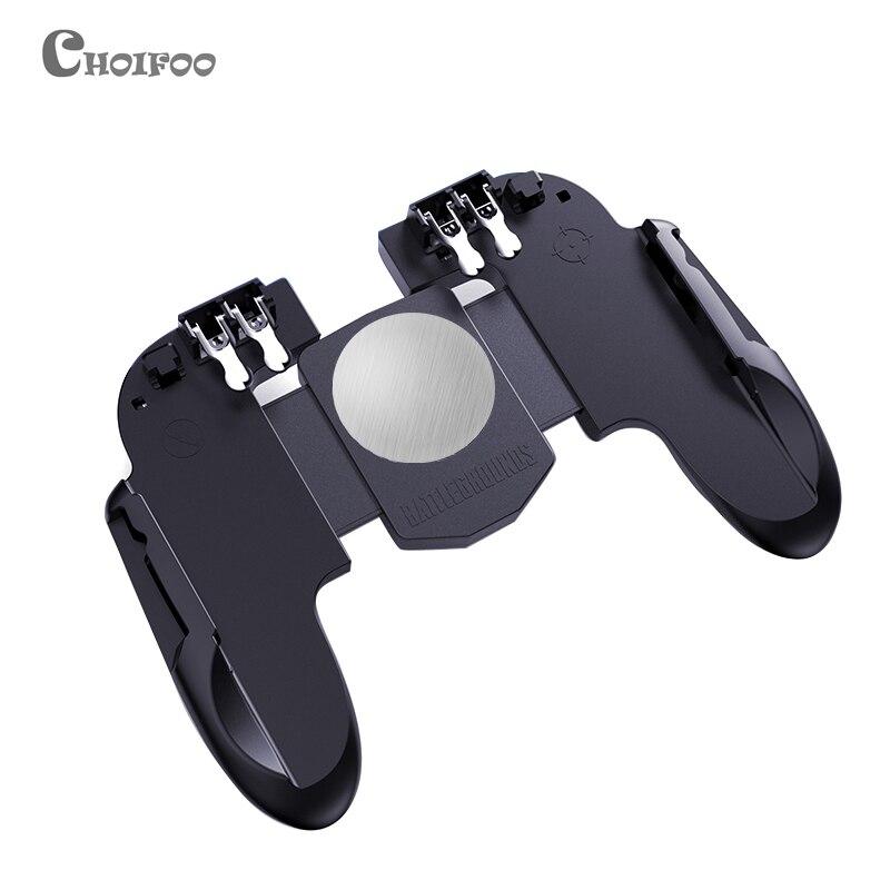 Novo seis dedo tudo-em-um pubg móvel controlador de jogo livre fogo botão chave joystick gamepad l1 r1 pubg gatilho melhor do que ak66
