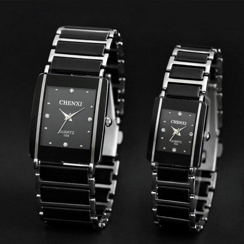 CHENXI reloj de cuarzo mujeres hombres amante relojes de cerámica 2016 famosa marca de lujo de cuarzo reloj de moda impermeable relojes de pulsera