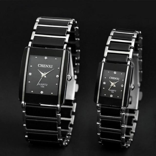 bd8c736a892 CHENXI Quartzo Relógio Dos Homens Das Mulheres Amante De Cerâmica Relógios  2016 Famosa Marca de Luxo