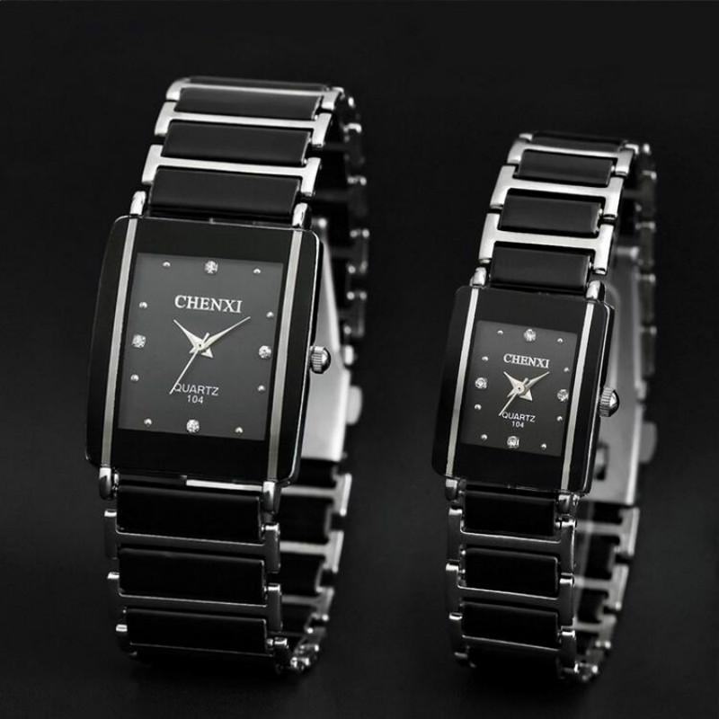 Prix pour Chenxi quartz montre femmes hommes amant montres en céramique 2016 célèbre marque de luxe quartz-montre de mode étanche robe poignet montres