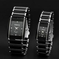 Chenxi relógio de quartzo mulher amante dos homens relógios de cerâmica 2016 famosa marca de luxo quartzo-relógio de moda à prova dwaterproof água vestido relógios de pulso