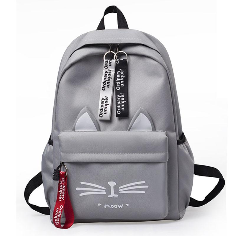 Cartoon Character Bag Female Korean Harajuku Style Creative Students Cute Cat Backpack