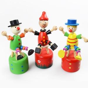 Image 5 - Brinquedos do bebê brinquedo de madeira criativo das crianças girafa fantoche balanço animal de terracota palhaço tambor pai criança brinquedos