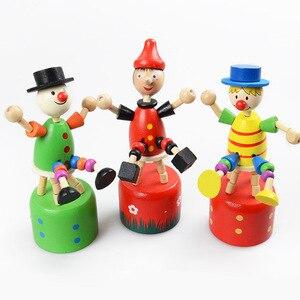 Image 5 - เด็กของเล่นเด็กความคิดสร้างสรรค์ไม้ของเล่นยีราฟหุ่น Swing สัตว์ Terracotta Clown Barrel เด็กของเล่น