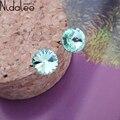 Nidalee marca 2017 hot sale rodada brincos de cristal para as mulheres de cristal de cisne do parafuso prisioneiro brincos de festa de casamento jóias cb544