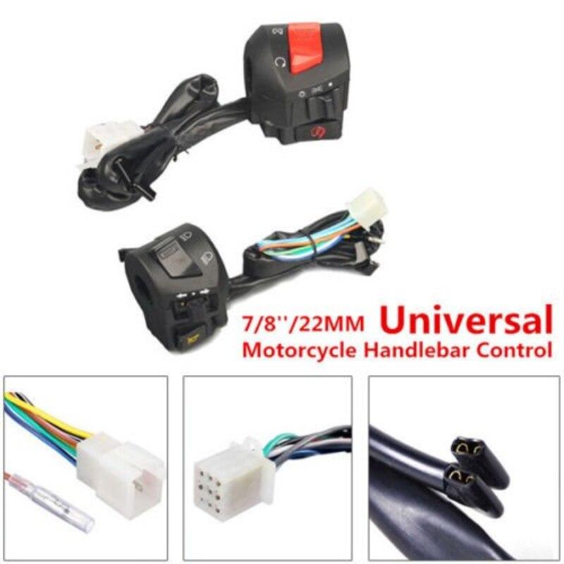 Купить с кэшбэком 7/8'' 22MM Motorcycle Handlebar Horn Turn Signal Lamp Control Switch Wonderful