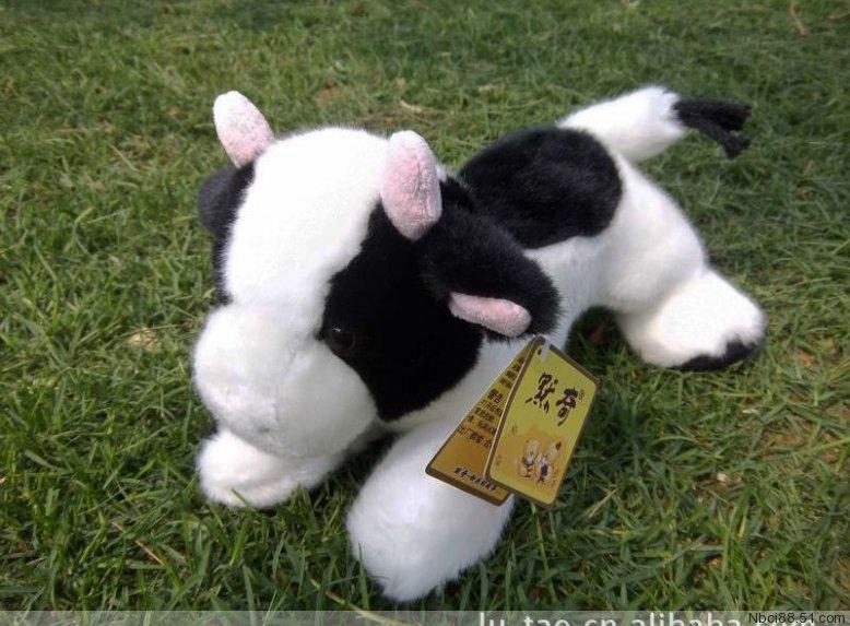 high quality 28cm soft dairy cow plush toy doll birthday gift b0409
