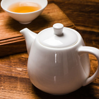 Modern Chinese white bone china teapot ceramic large small single pot flower teapot tea pot with filter LO927727