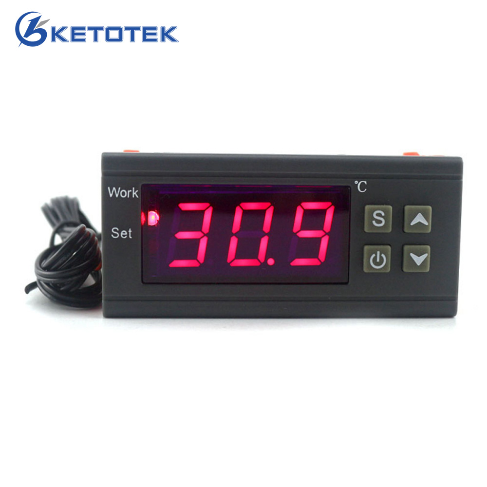 Intelligent Digital Temperature Controller Thermostat Thermometer Thermo regulator Incubator Relay Output KT1210W 110V 220V 12V