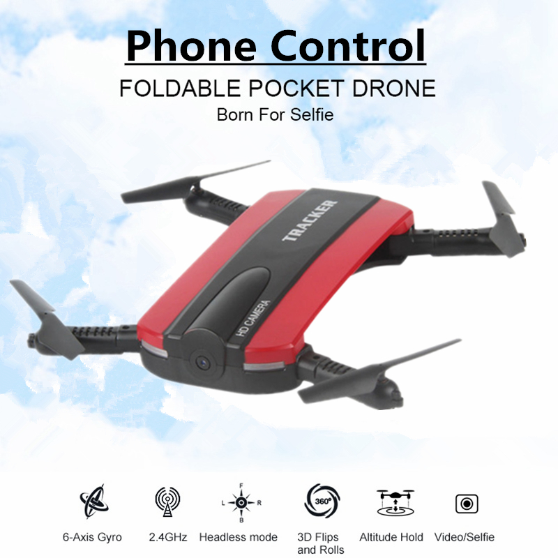 Selfie Drone With WIFI FPV Camera Foldable Pocket RC Quadcopter Phone Control Helicopter Wifi Mini Dron